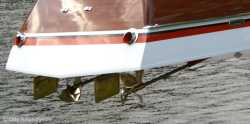 Aquarama props and rudder